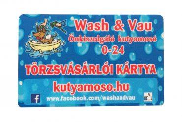 Wash&Vau törzsvásárlói kártya 11000 Ft értékben