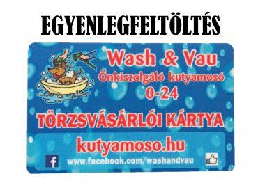 Wash & Vau kutyamosó kártya, egyenlegfeltöltés