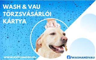 Wash & Vau törzsvásárlói kártya egyenlegfeltöltés +10% bónusszal