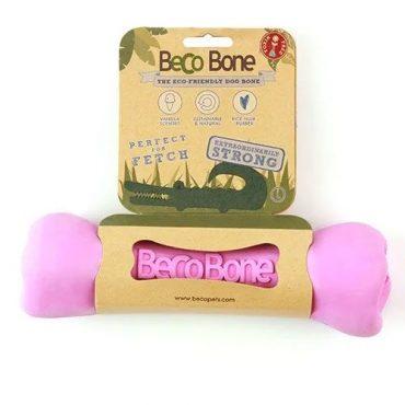 Beco jutalomfalattal tölthető csont - Beco bone - Rózsaszín M